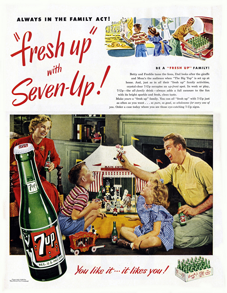 7Up advertisement from the May 16, 1949 issue of Life magazine
