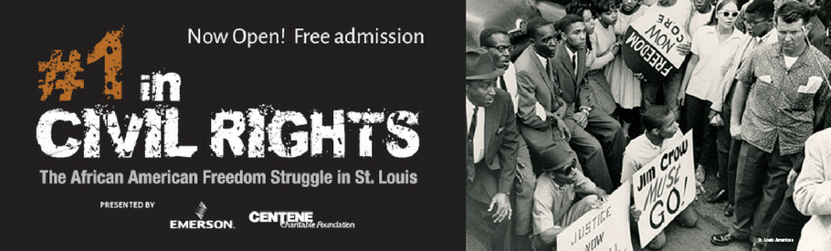 "Advertisement for MHM's ""#1 in Civil Rights"" exhibit"