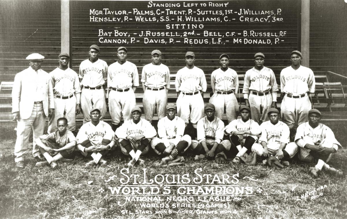 Black-and-white photo of the 1928 St. Louis Stars