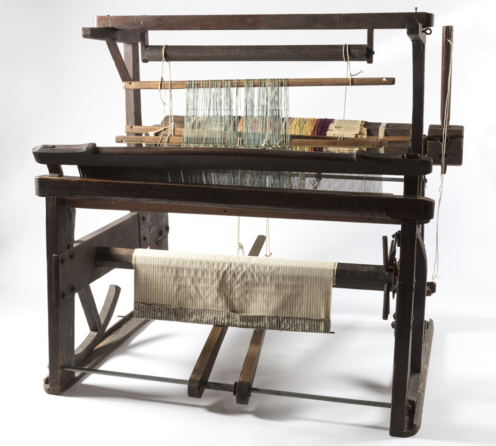 Color photo of wood rocker beater loom