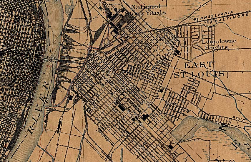 Map of East St. Louis in 1912