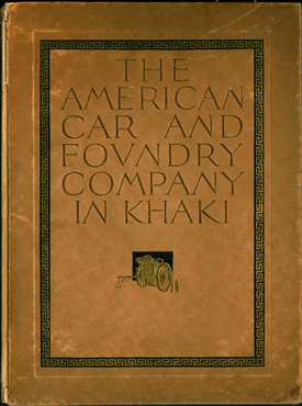 Cover of American Car and Foundry Company in Khaki