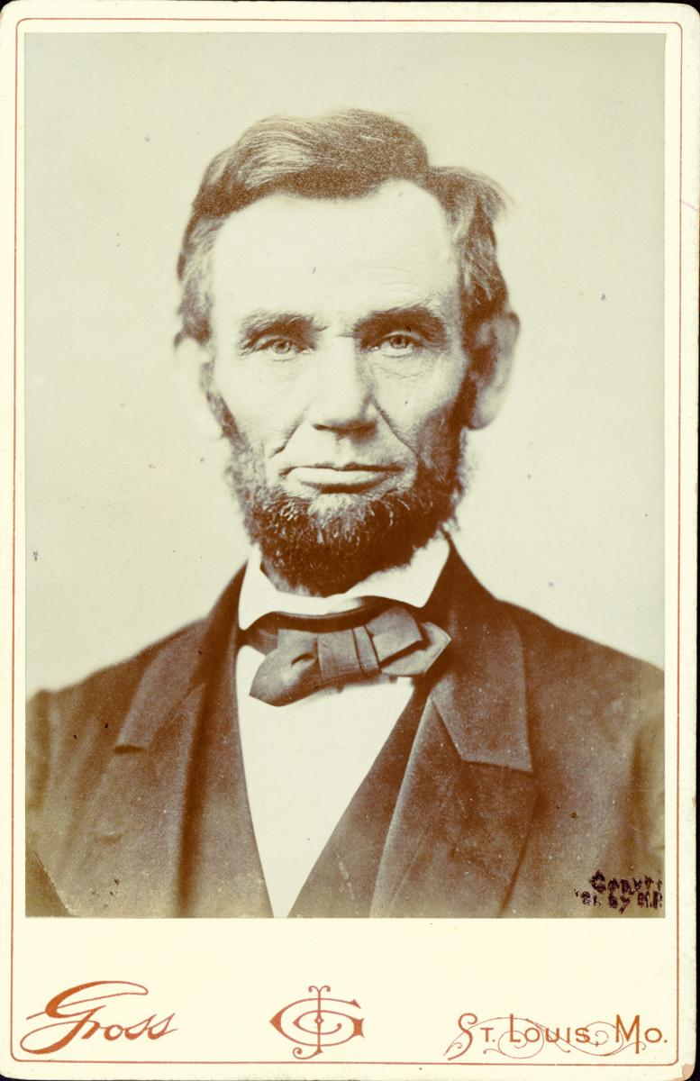 Cabinet card of Abraham Lincoln