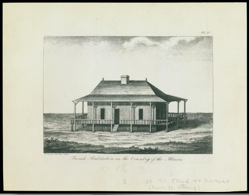 Sketch of a French Creole home, 1796.