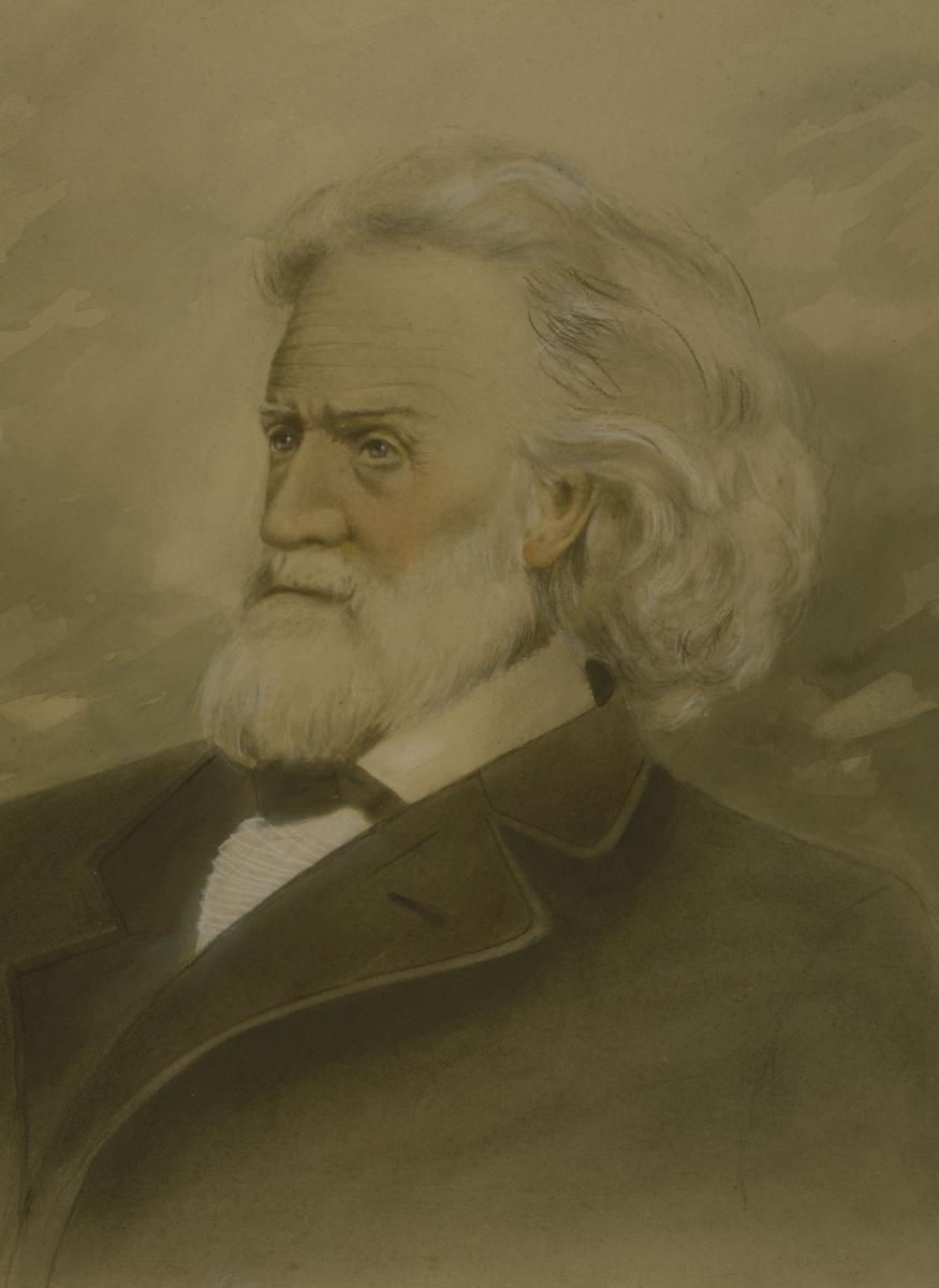 Watercolor portrait of Dr. Joseph Nash McDowell