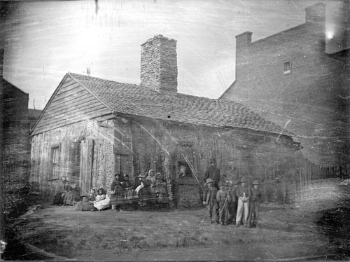 Daguerreotype of French home in St. Louis, 1800s