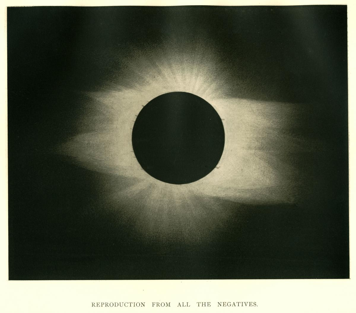 Photo of the 1889 total solar eclipse