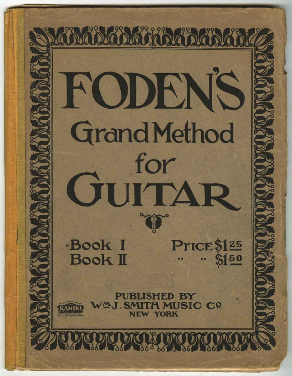 Cover of Foden's guitar method book