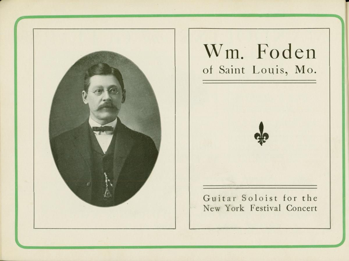 Foden souvenir program