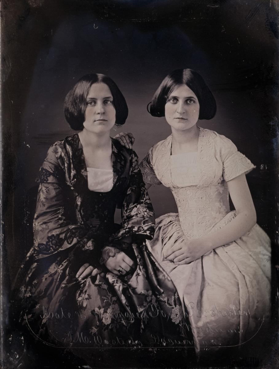 Daguerreotype of the Fox sisters