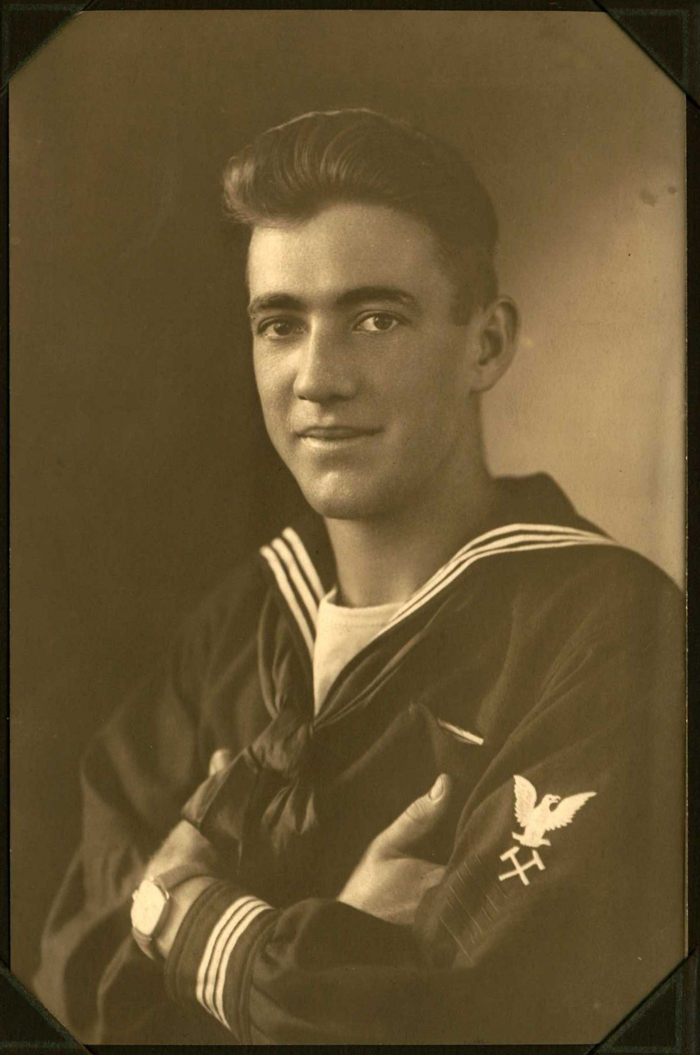 Frank Mitchell in his naval uniform