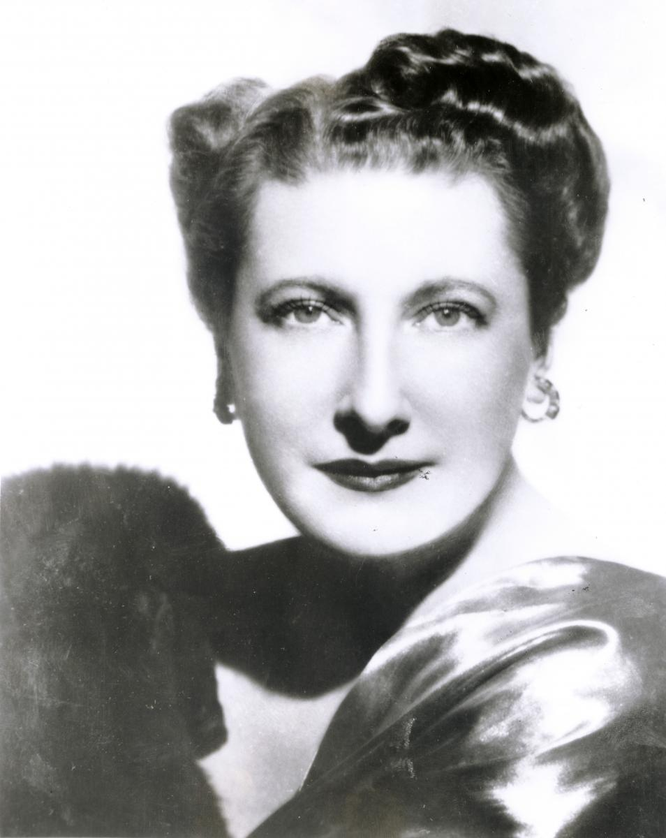 Black-and-white portrait of Helen Traubel