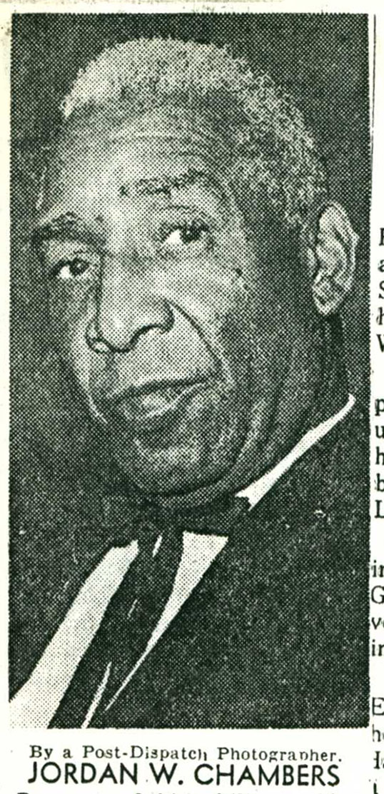 Scan of a copy of Jordan Chambers photo from his obituary