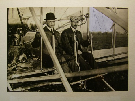 Photo of Albert Bond Lambert and Orville Wright