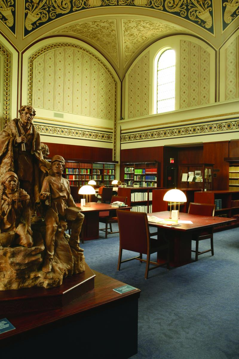 Inside the Margaret Blanke Grigg Reading Room at the Museum's Library and Research Center
