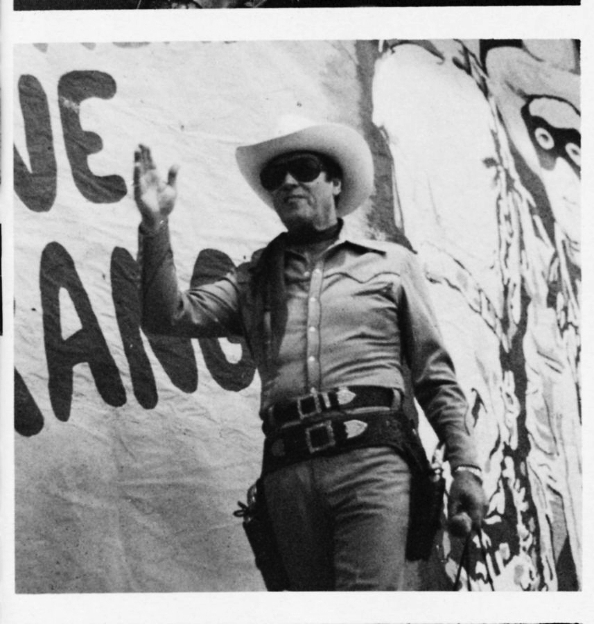 Black-and-white photo of Lone Ranger