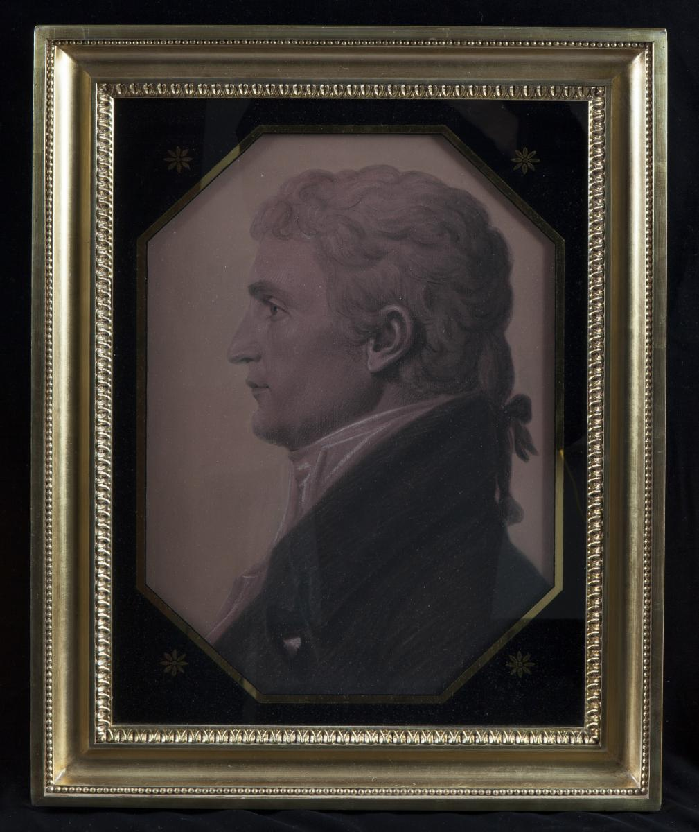 Chalk portrait of Meriwether Lewis