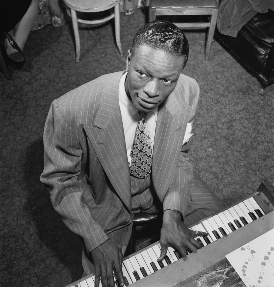 Black-and-white photo of Nat King Cole