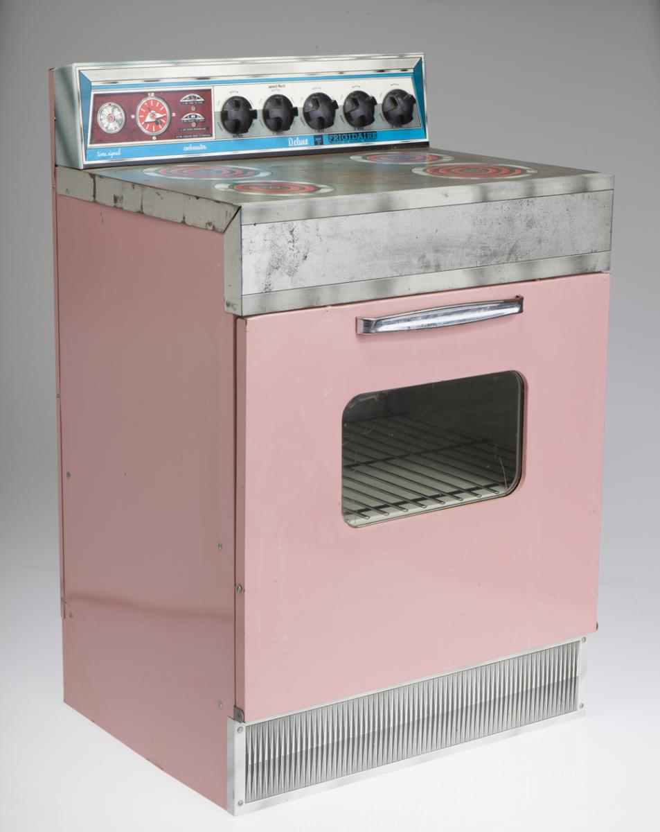 Color photo of pink Rite Hite kitchen stove