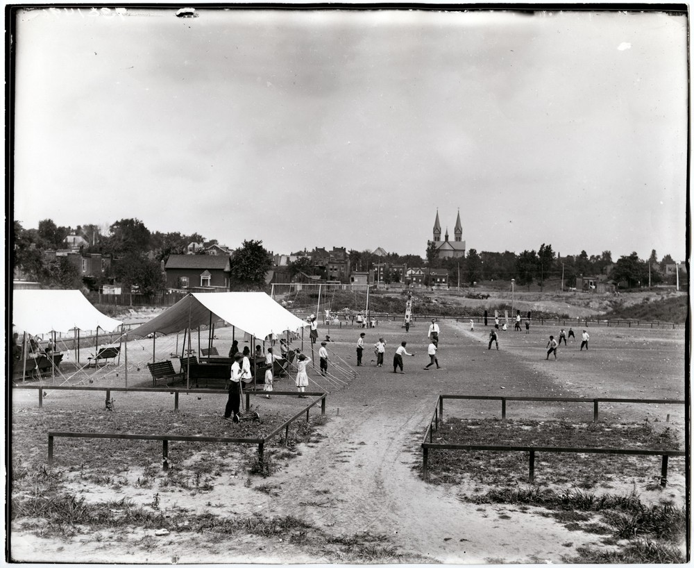Photo of children playing at Dakota Park