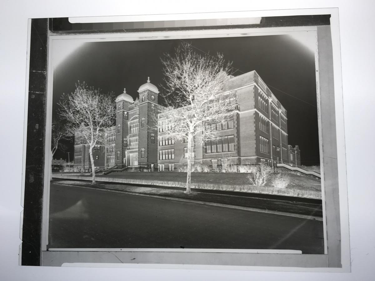 Photo of a polyester negative
