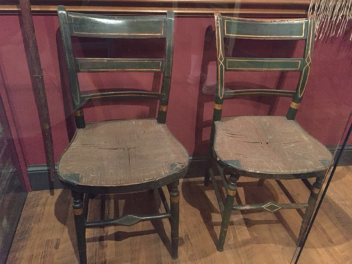 Photo of William Clark's rush-bottom chairs