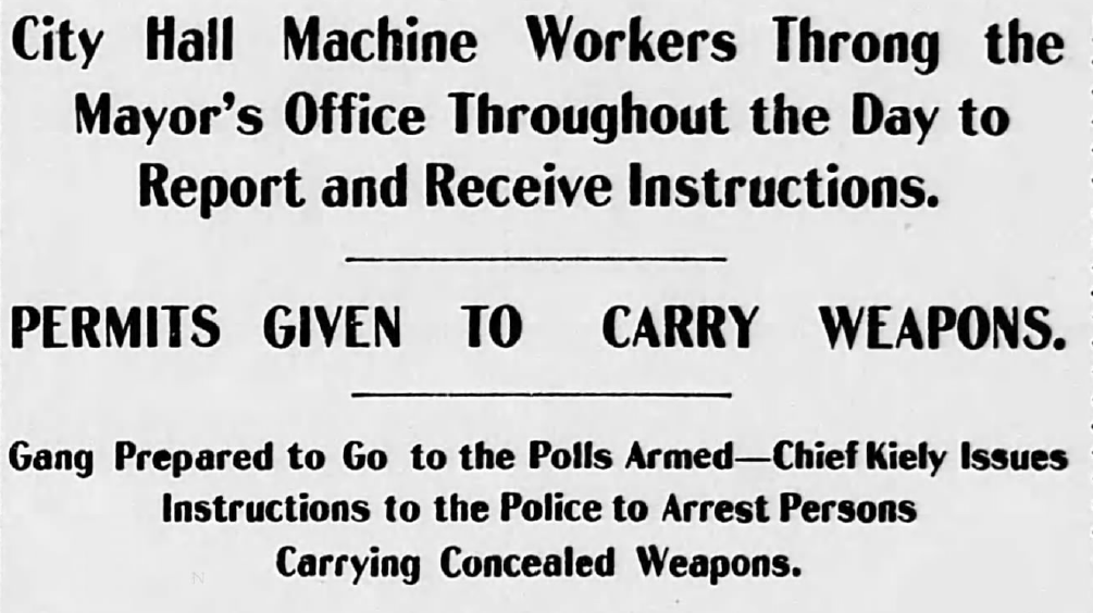 "Headline from ""St. Louis Republic"" story on April 2, 1901"