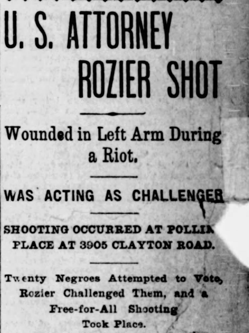 "Headline from ""St. Louis Post-Dispatch"" story on April 2, 1901"