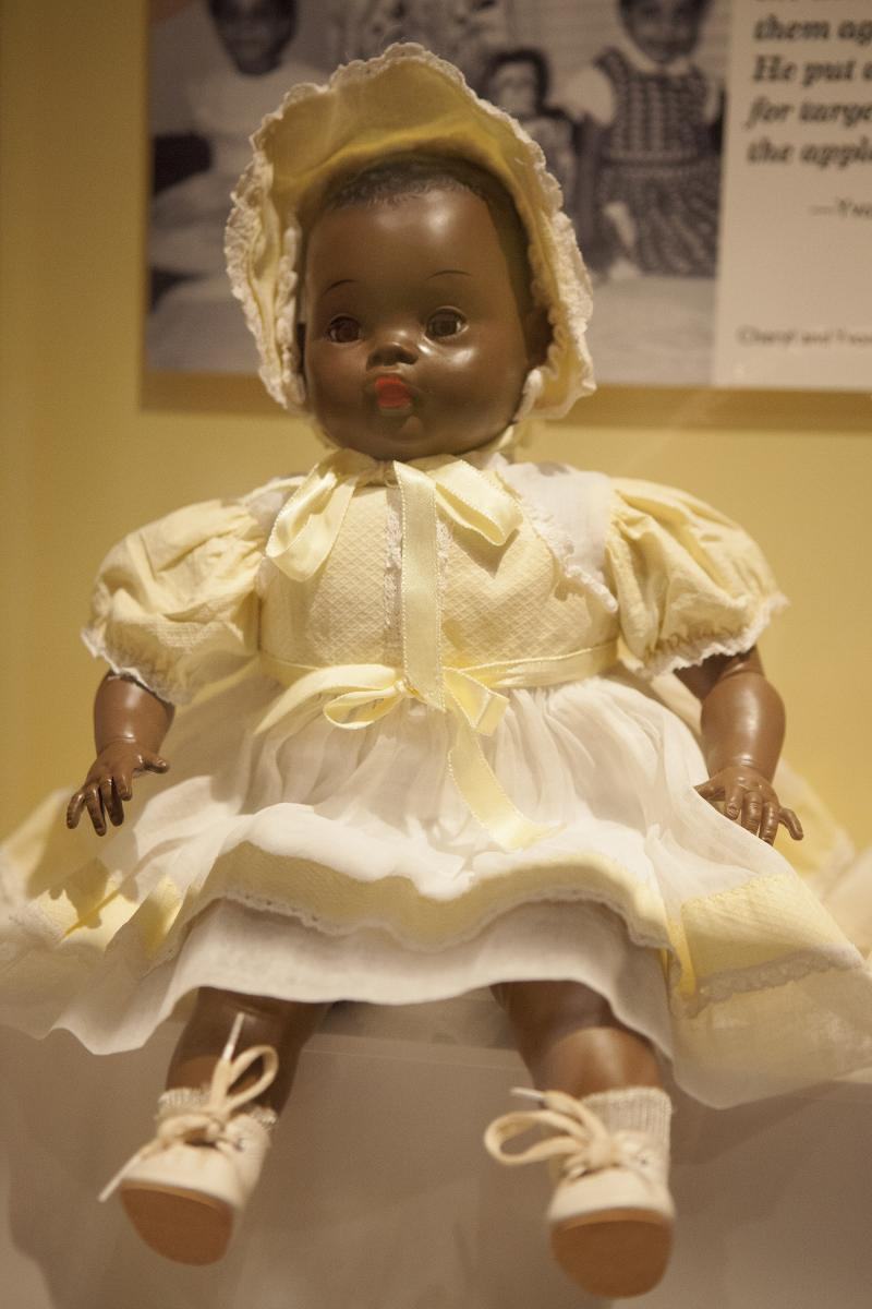 "Photo of Saralee doll in ""TOYS of the '50s, '60s and '70s"" exhibit"