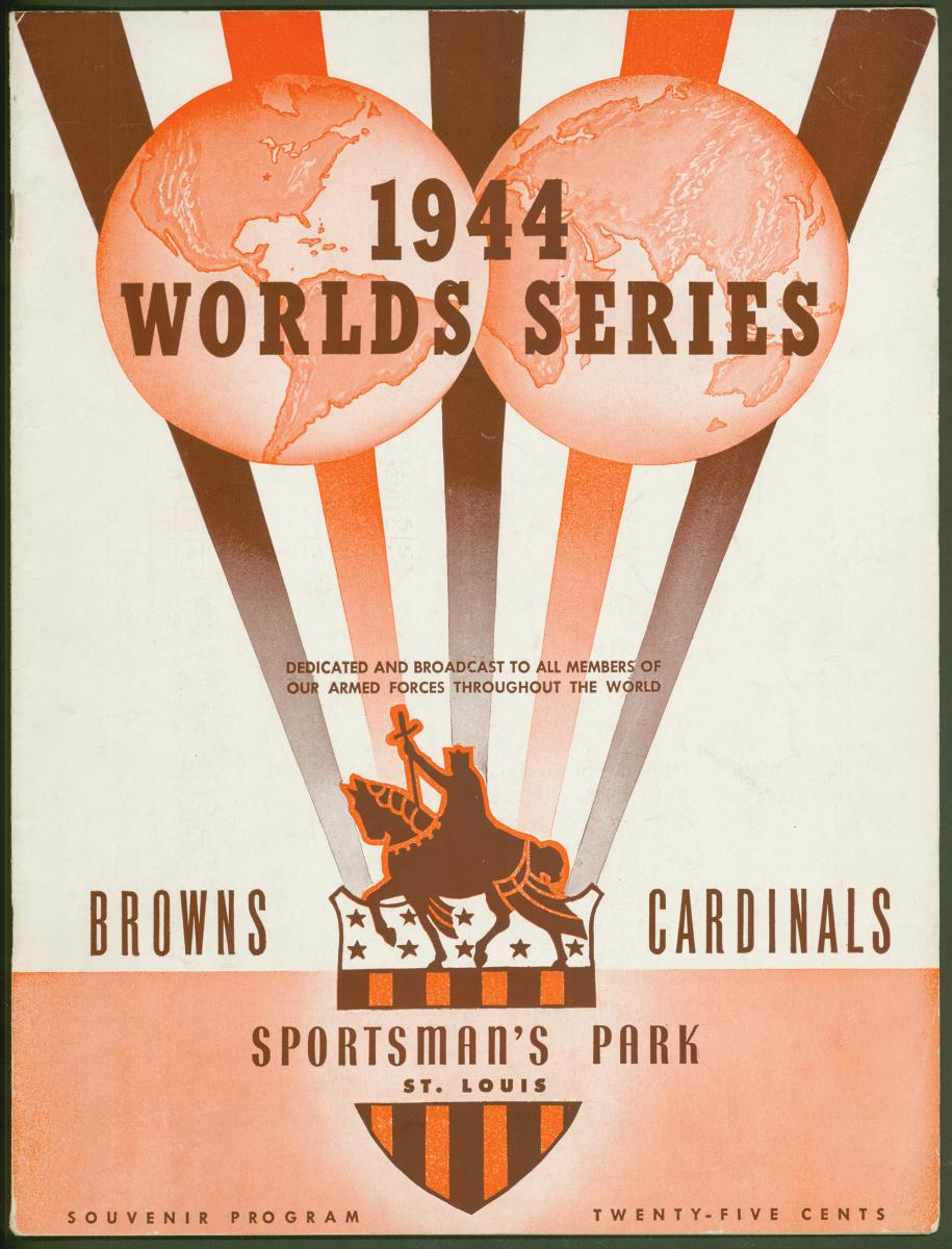 Color scan of program cover from the 1944 World Series