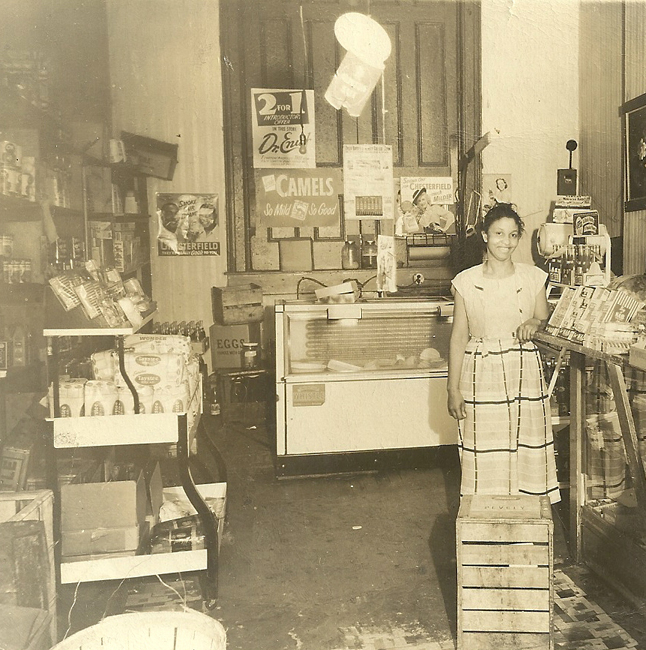 Lillie Pearson at her store.