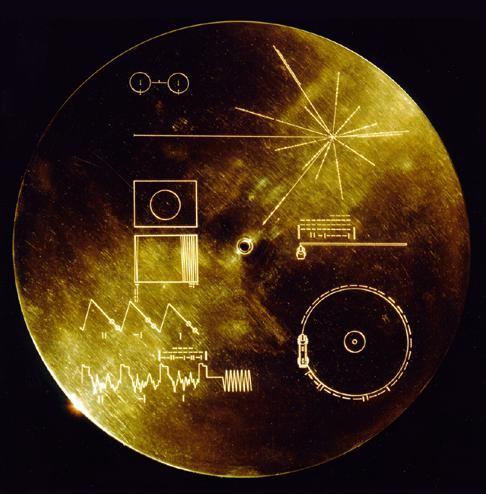 Color photo of the Voyager Golden Record