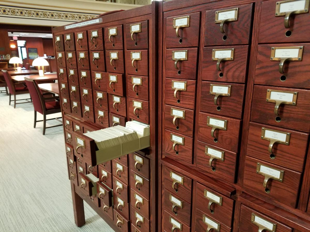 The Archives Card Catalog at the LRC