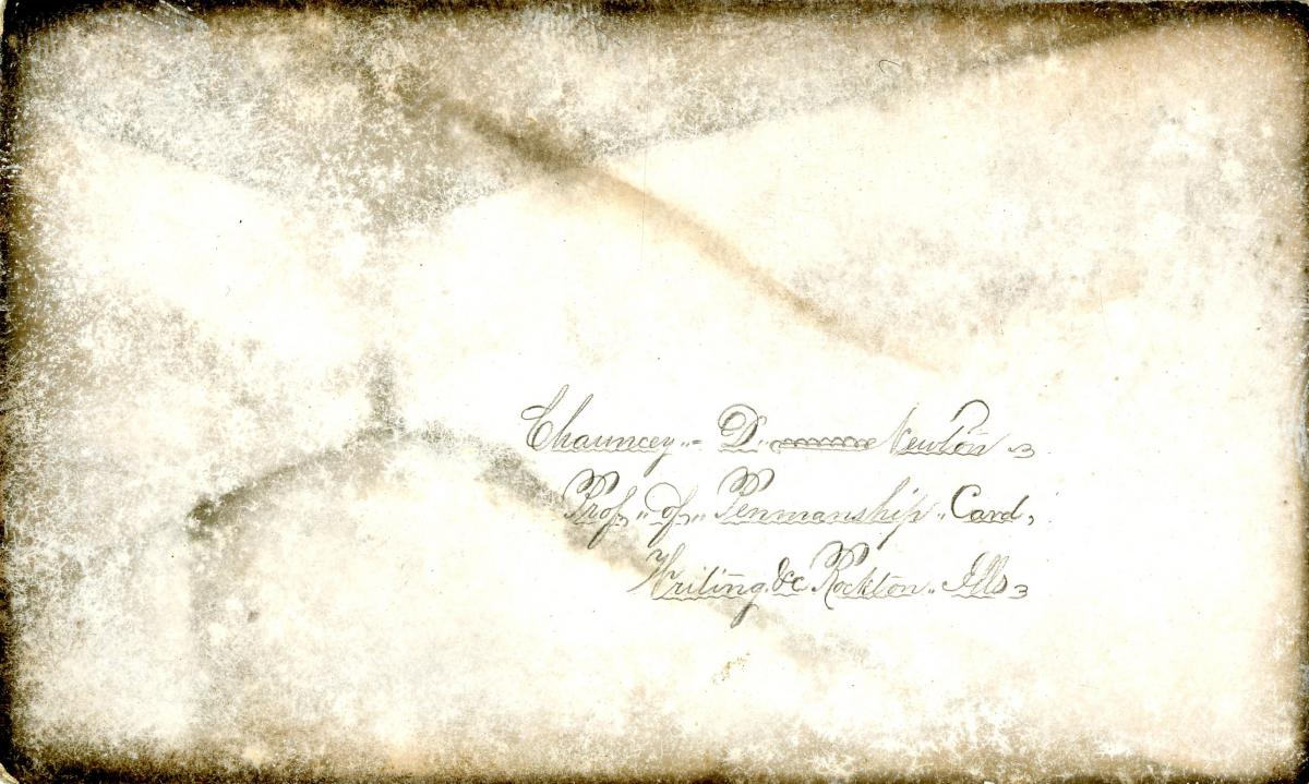 Scan of penmanship business card