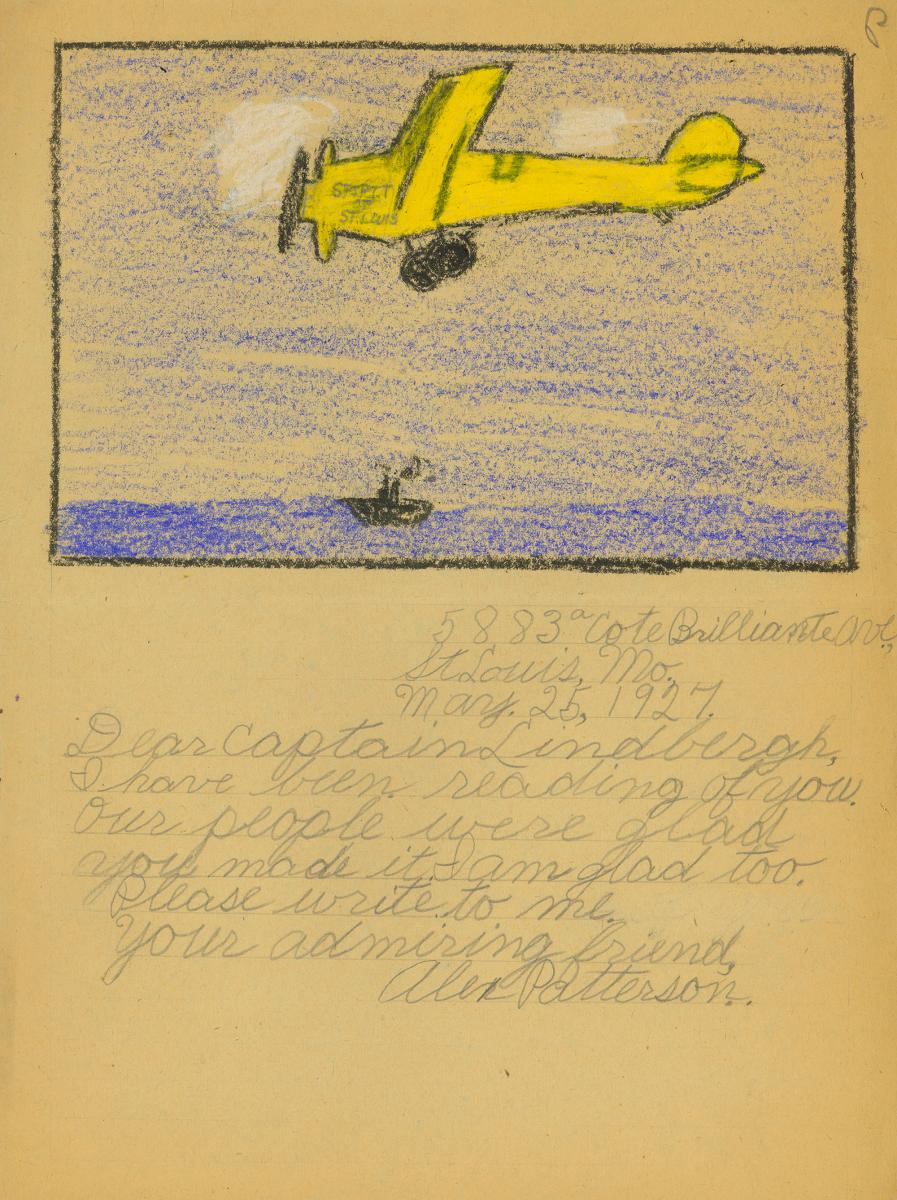 Scan of child's letter to Charles Lindbergh