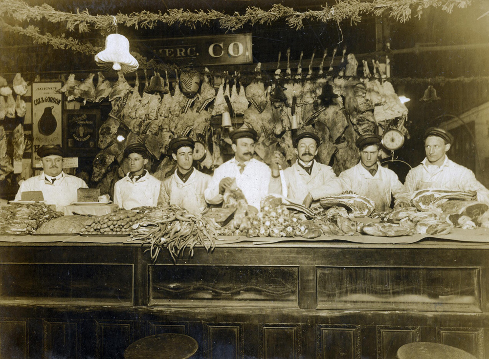 meat vendors in the early 1900s
