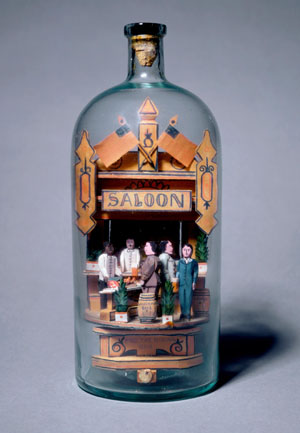 saloon in a bottle, created by Carl Woerner, 1908