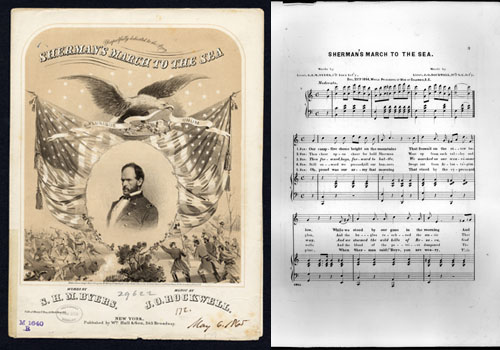 Sheet music sheet for Sherman's March to the Sea, written in 1865